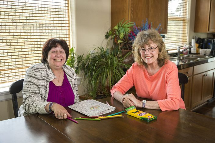 Homecare Worker smiling with her client